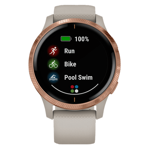Garmin Venu | Light Sand + Rose Gold