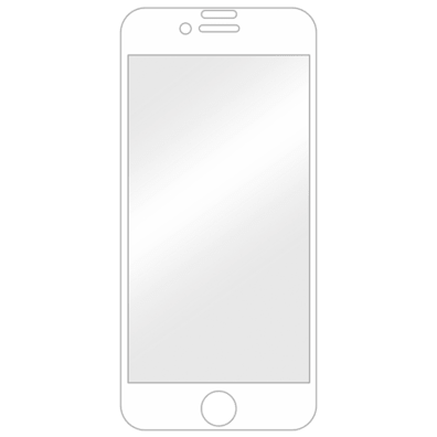 Apple iPhone 6/6S/7/8 aizsargstikliņš (Displex Real Glass 3D White) | Bite