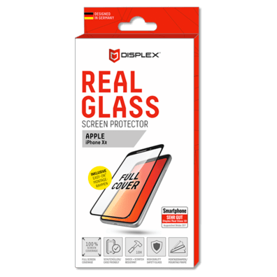 Apple iPhone XR aizsargstikliņš (Displex Real Glass 3D Black) | Bite
