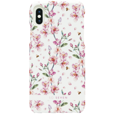 Apple iPhone X/XS aizsargvāciņš (Tokyo Cover Cherry Blossoms) | White | Bite
