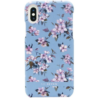 Apple iPhone X/XS aizsargvāciņš (Tokyo Cover Cherry Blossoms) | Blue | Bite