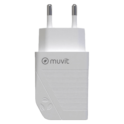 Muvit Travel Charger 18W Type C | White | Bite