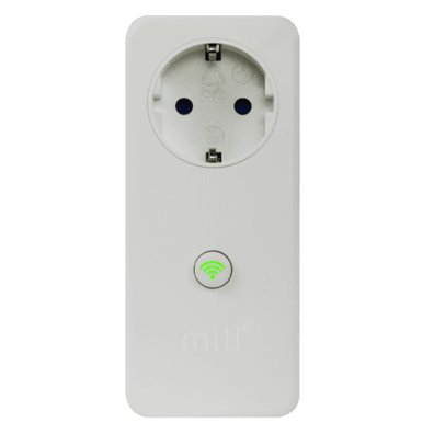 Mill WiFi Socket with integrated thermostat for heaters, White (232092) | Bite